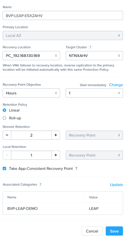 Nutanix Leap availability_5