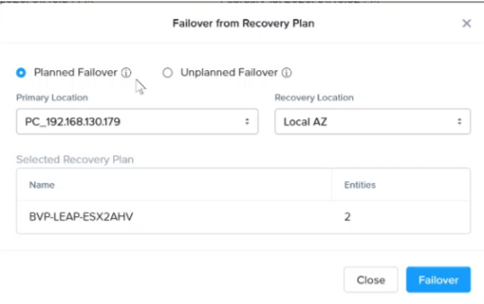 Nutanix leap failover_3
